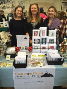 Carol with Frances & Tamara at the CGMT stall.