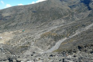 Looking down the Wall into the Barranco Valley